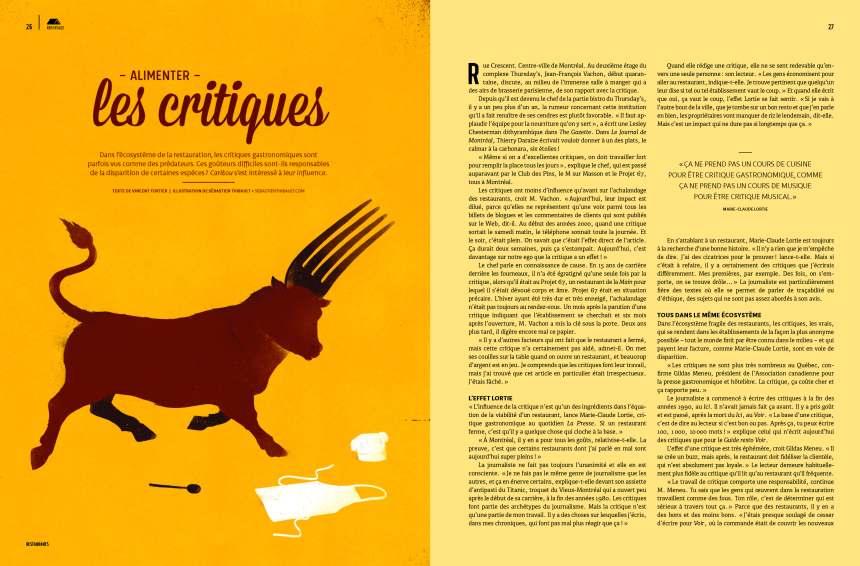 Magazine Caribou: sexy bouffe