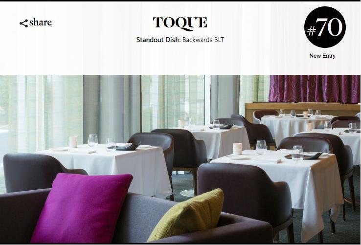 Toqué! se classe parmi les 100 meilleurs restaurants du monde