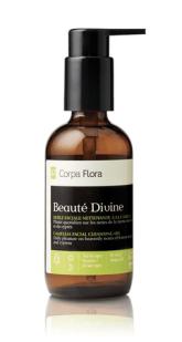 L'huile nettoyante de Corpa Flora, une autre marque d'ici.