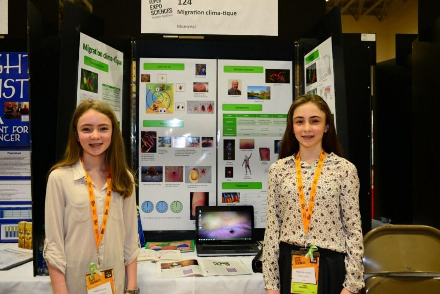 Expo-Sciences Hydro-Québec: la maladie de Lyme expliquée par les sœurs Lacroix