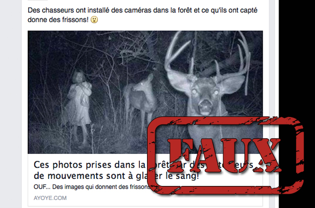 Non, ces photos «prises par détecteur de motion» n'ont rien de surnaturel