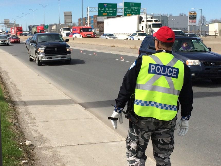 Important déploiement policier à Saint-Léonard