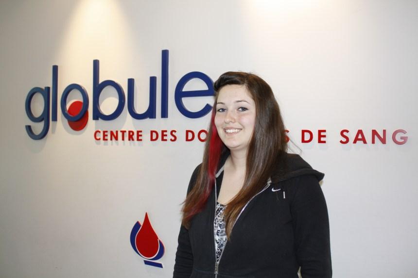 Sarah, 21 ans, 8 dons et une collecte de sang