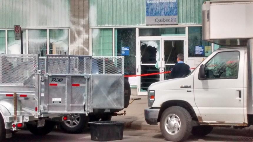 Vandalisme au centre d'emploi Hochelaga