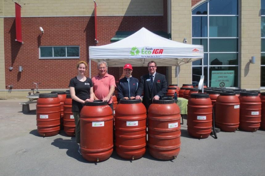 35 barils récupérateurs d'eau de pluie distribués à l'IDS