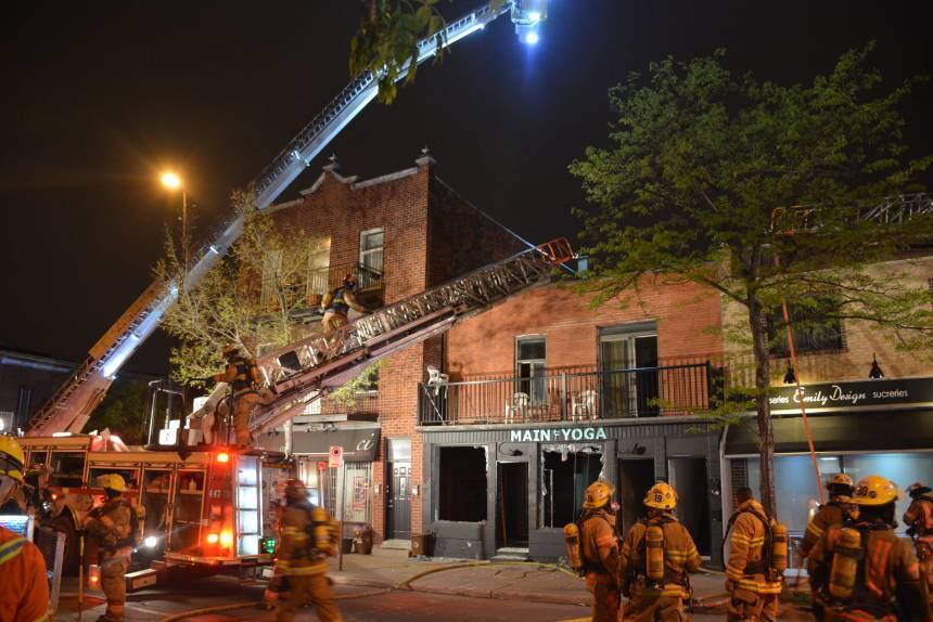 Incendie d'origine suspecte dans La Petite-Italie