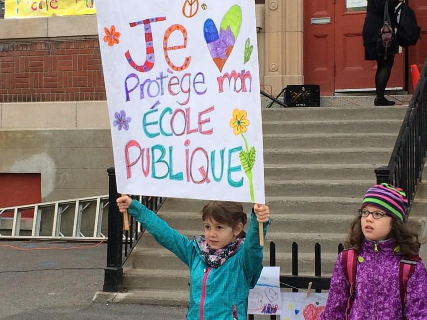 Forte mobilisation pour protéger l'école publique