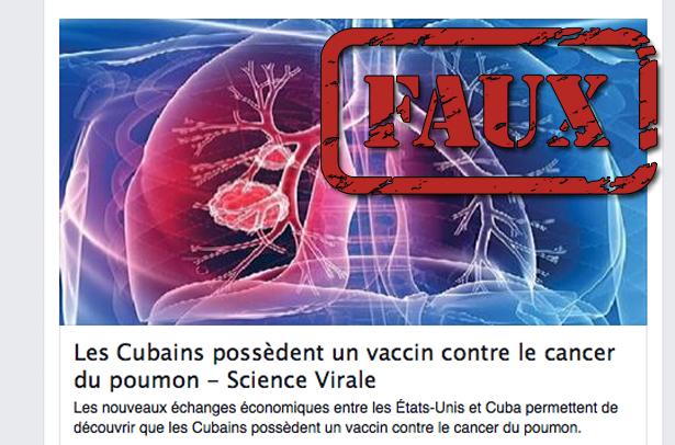 Gros bémols pour ce «vaccin contre le cancer du poumon» mis au point à Cuba