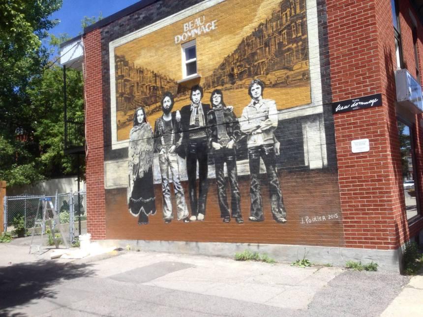 Murale Beau Dommage: aussitôt vandalisée, aussitôt nettoyée