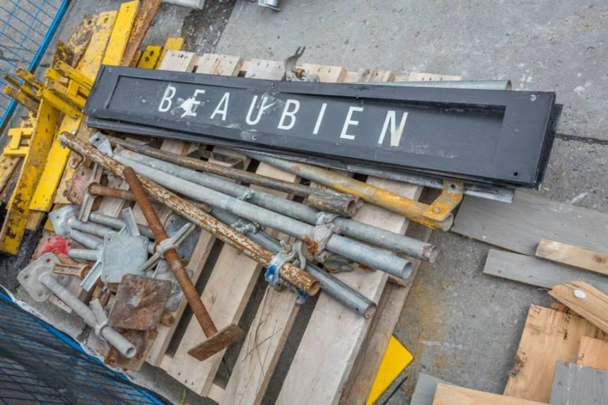Photos: où en sont les travaux de la station Beaubien
