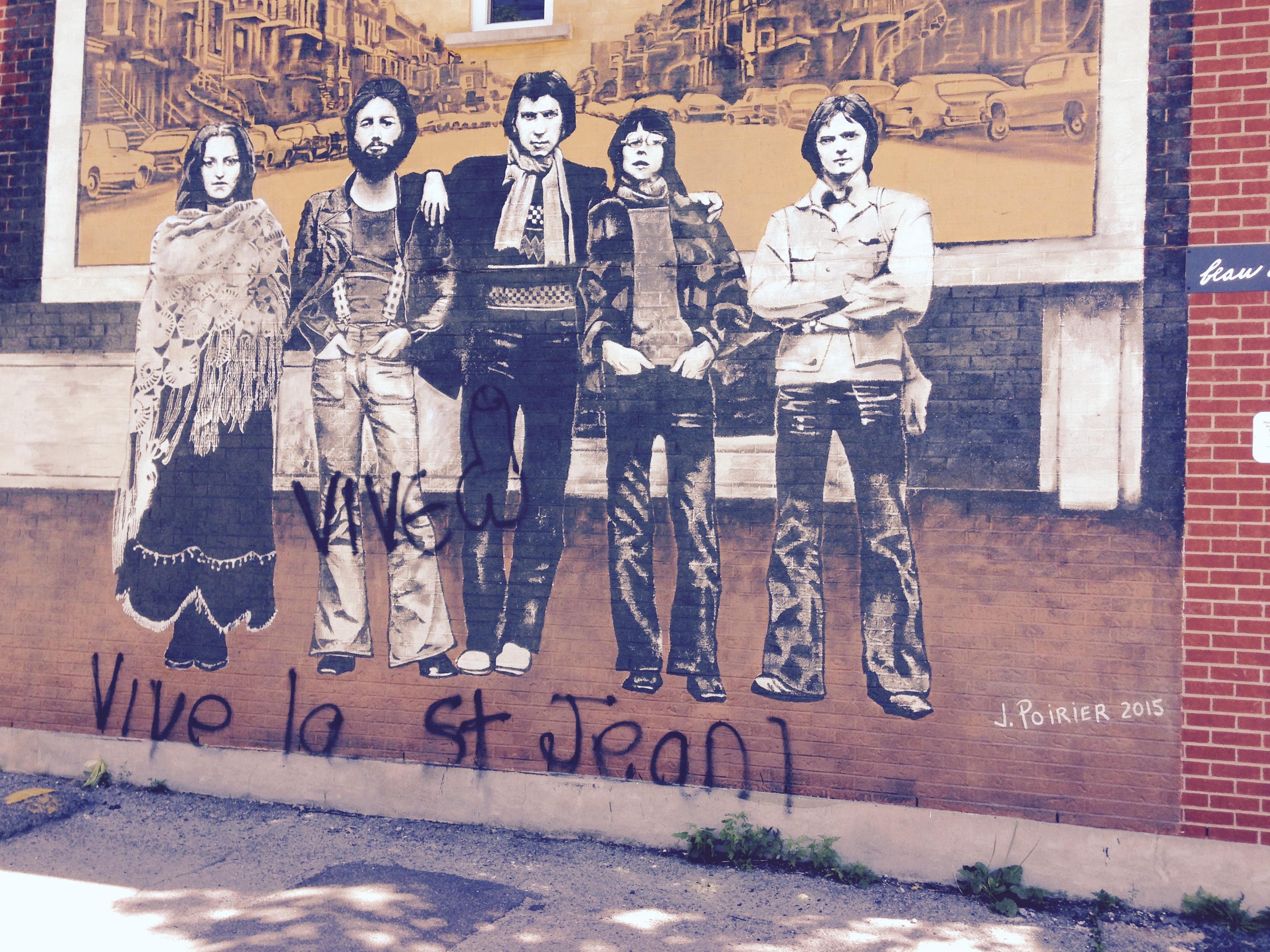 Murale Beau Dommage vandalisée