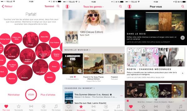 Lancement d'Apple Music: 9,99$ par mois au Canada
