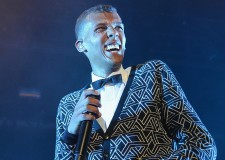 NEW YORK, NY - JUNE 20:  Stromae performs in concert at Best Buy Theater on June 20, 2014 in New York City.  (Photo by Dimitrios Kambouris/Getty Images)
