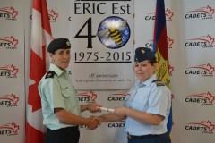 Un officier de LaSalle gradue de l'École régionale des instructeurs de cadets