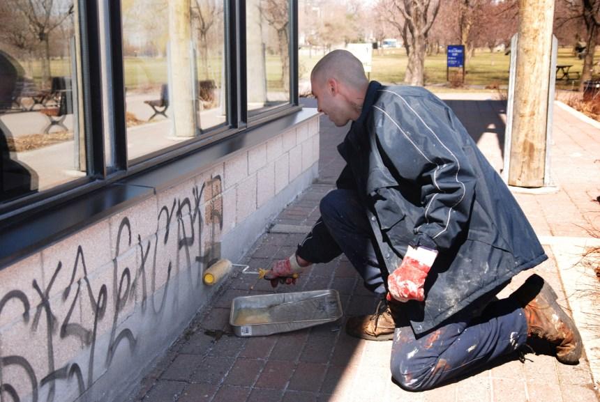 Recrudescence des graffitis dans MHM
