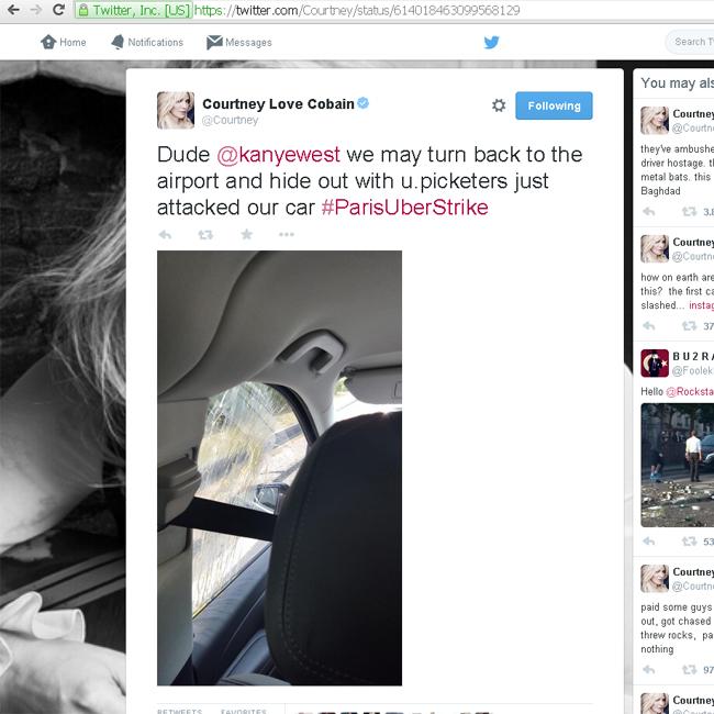 Courtney Love prise en embuscade à Paris
