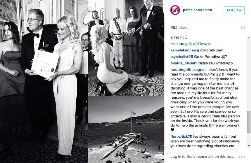 Pamela Anderson devient comtesse