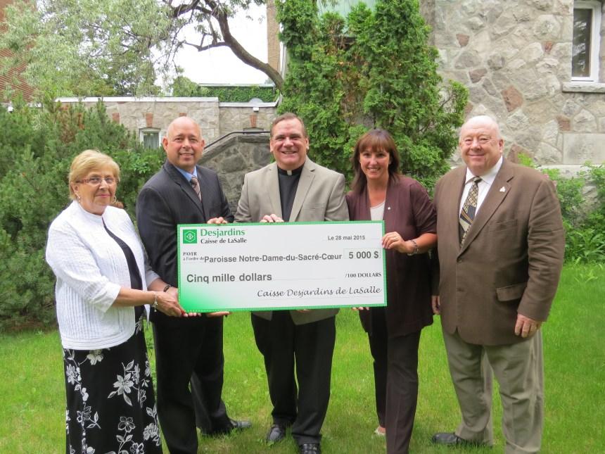 5000 $ à la paroisse Notre-Dame-du-Sacré-Coeur