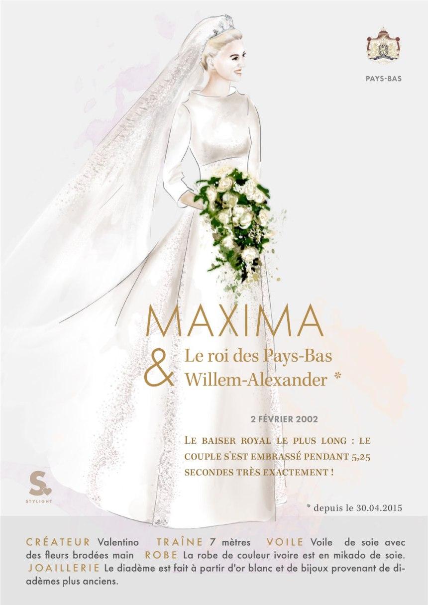 Infographie: Les plus belles robes de mariées royales