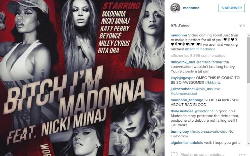Rita Ora, Beyoncé et Katy Perry dans le prochain clip de Madonna