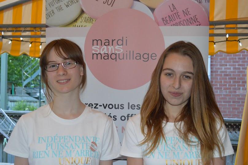 Sans maquillage Lili Rose L'Heureux et Alyssia Chartier