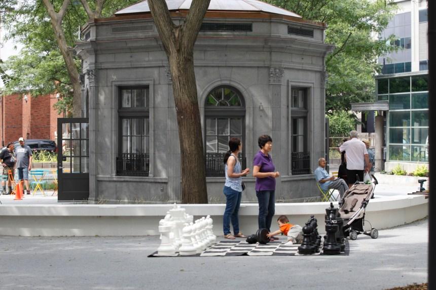 Réouverture du square Cabot