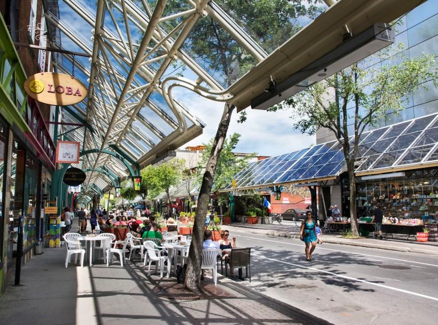 Plaza St-Hubert : art public, verdissement et coup de neuf à la marquise