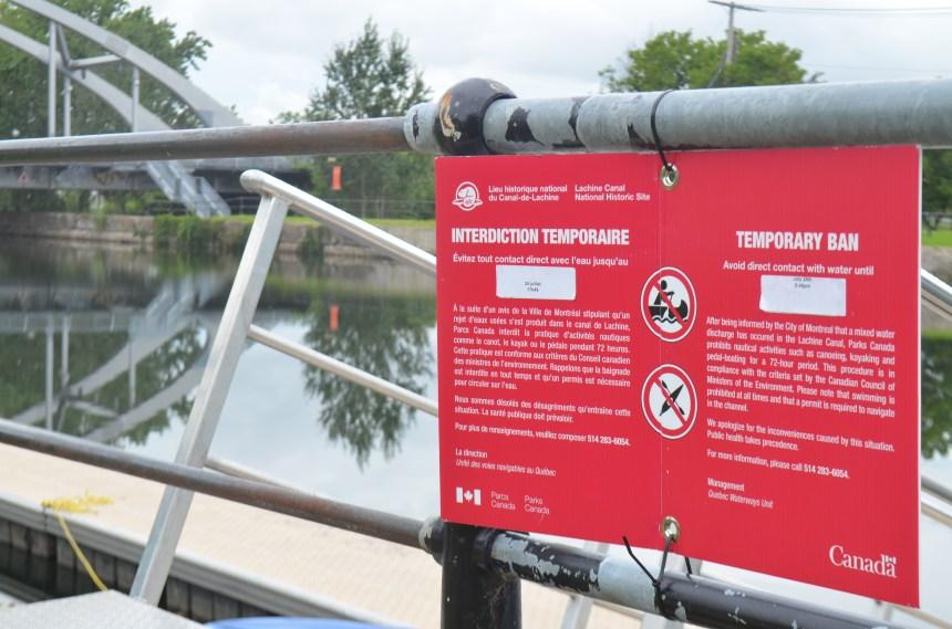 Déversement d'eaux usées: une autre fermeture du Canal Lachine coûteuse