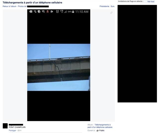 FACEBOOK - Pont Champlain
