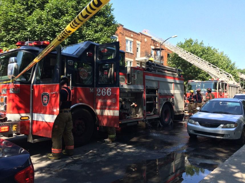Un appartement de la rue Osborne en proie aux flammes