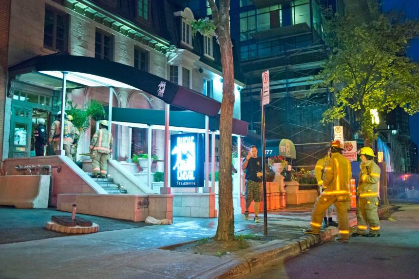 Incendie au restaurant Queue de Cheval tôt mercredi