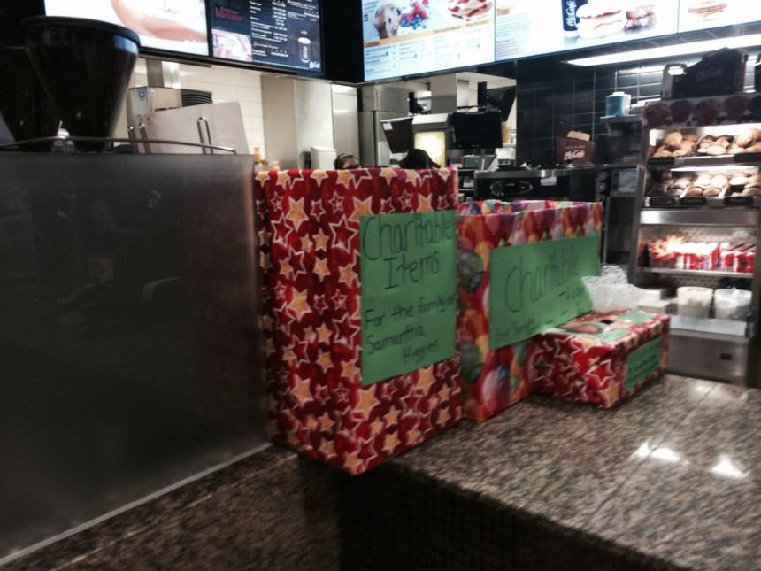 10 000$ et dons matériels pour les enfants de Samantha Higgins