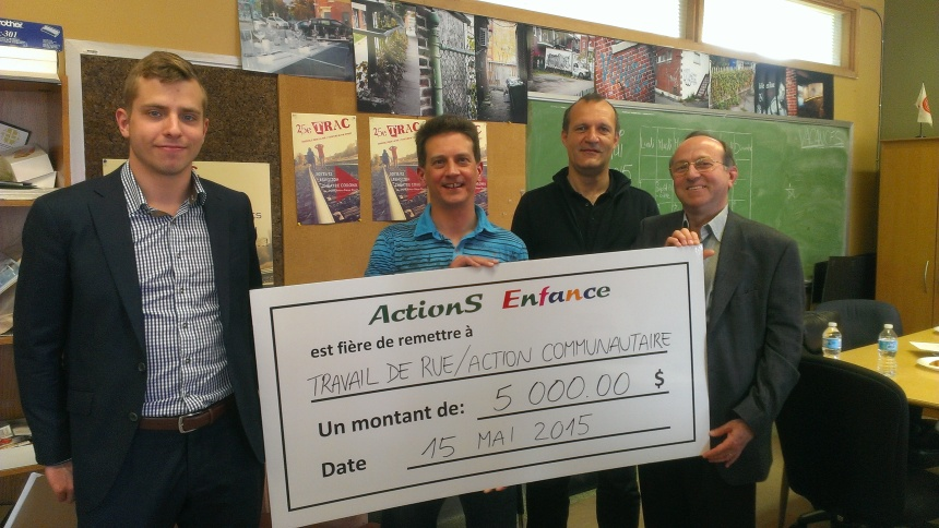 Don de 5000$ à Travail de rue action communautaire