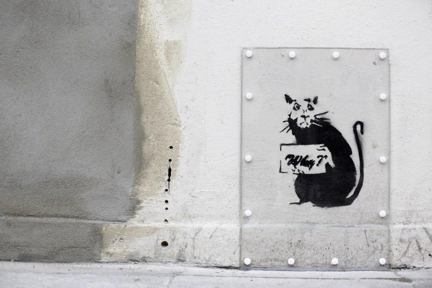 Une œuvre de Banksy volée près du musée Beaubourg en France