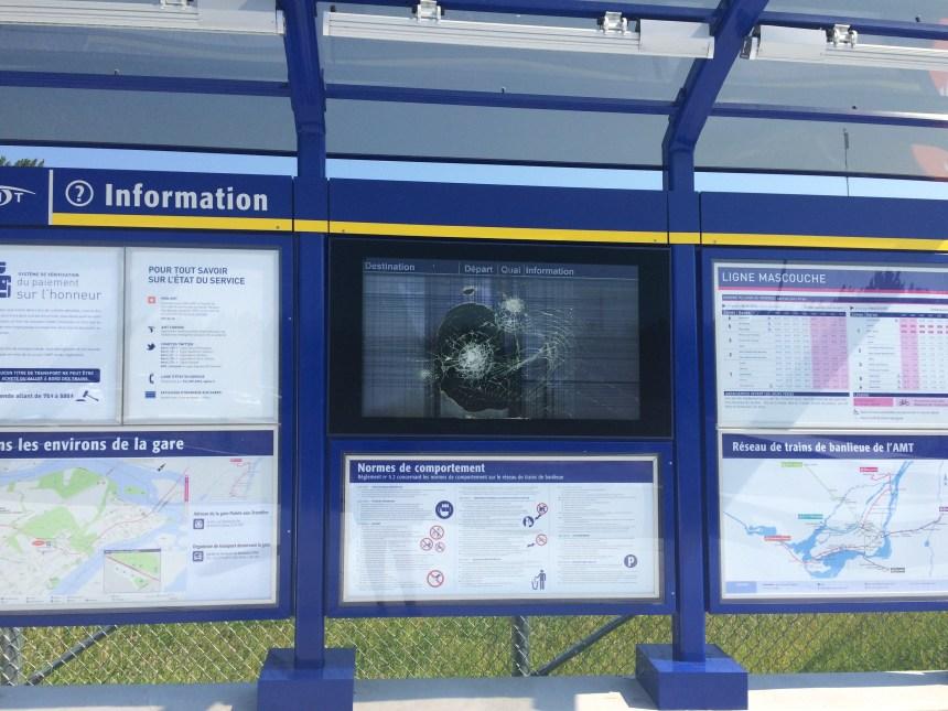 La gare de Pointe-aux-Trembles encore vandalisée