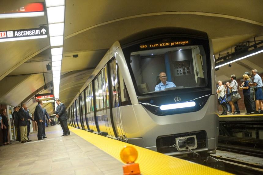 Les trains Azur font leur apparition sur le réseau de métro de la STM