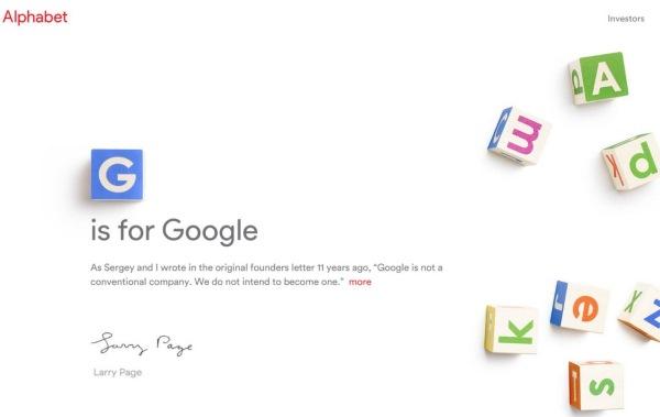 Google devient une filiale d'Alphabet