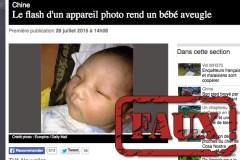 Le bébé «aveuglé par un flash»: un exemple du jeu du téléphone arabe