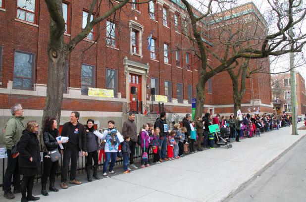 Je protège mon école publique: faible participation dans l'est de Montréal