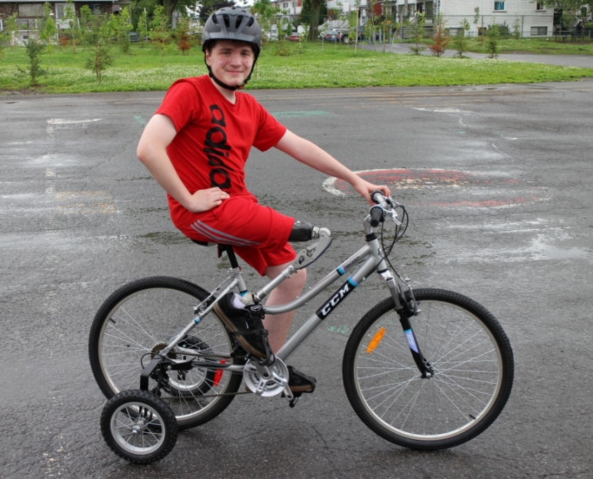 Amputé d'une jambe: faire du vélo comme les autres