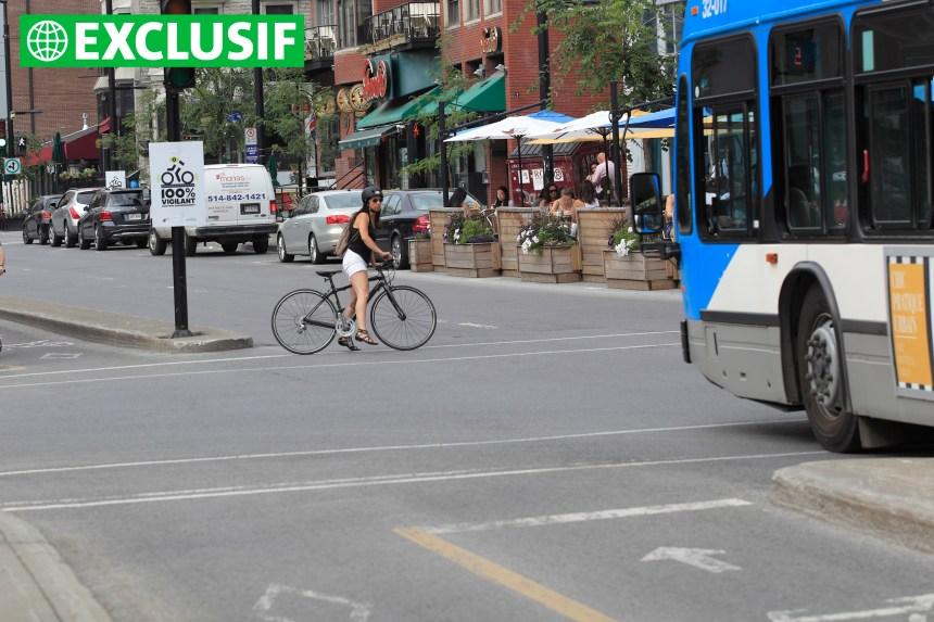 Collisions avec des cyclistes: les taxis et les autobus surreprésentés