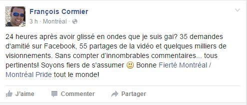 Chapeau François Cormier!
