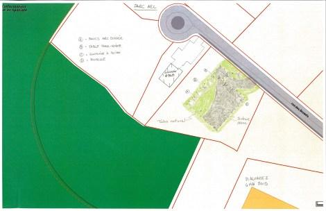 Site du futur parc à chiens sur la rue des Bruants à L'Île-Bizard.