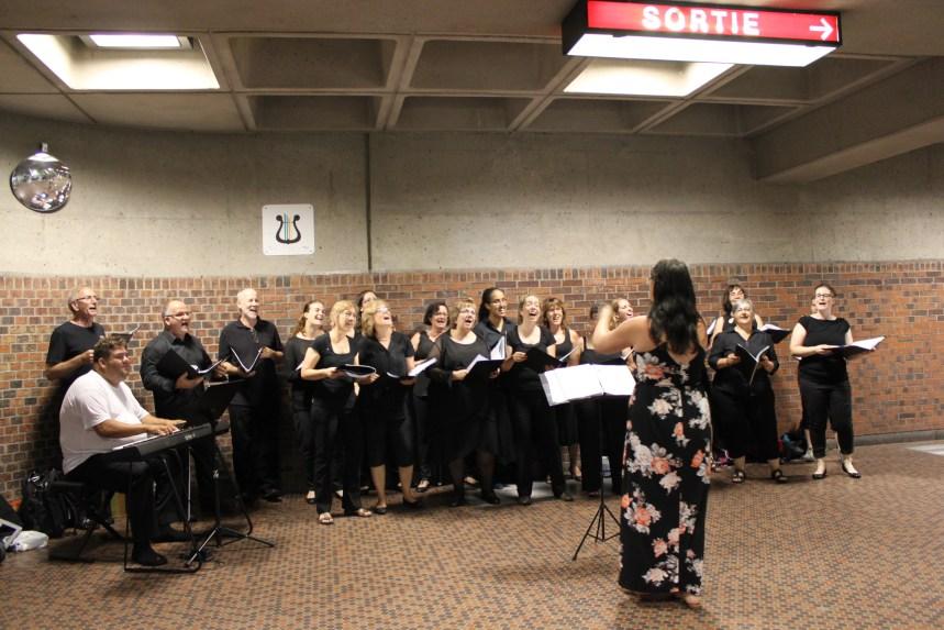 La chorale du «Sud-Ouest en chœur» en concert au parc Garneau