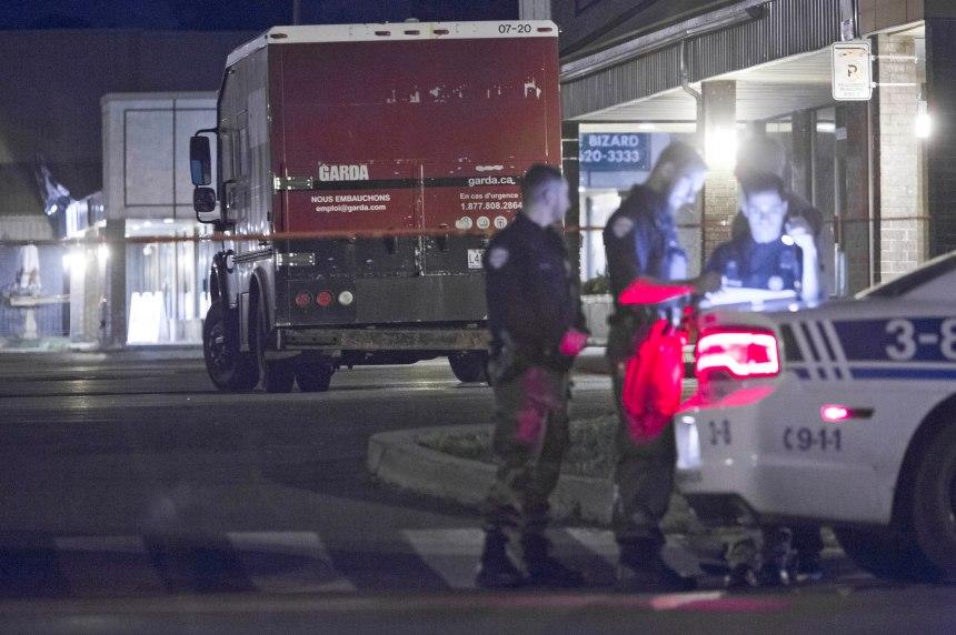 Tentative de vol à L'Île-Bizard: convoyeurs de fonds attaqués