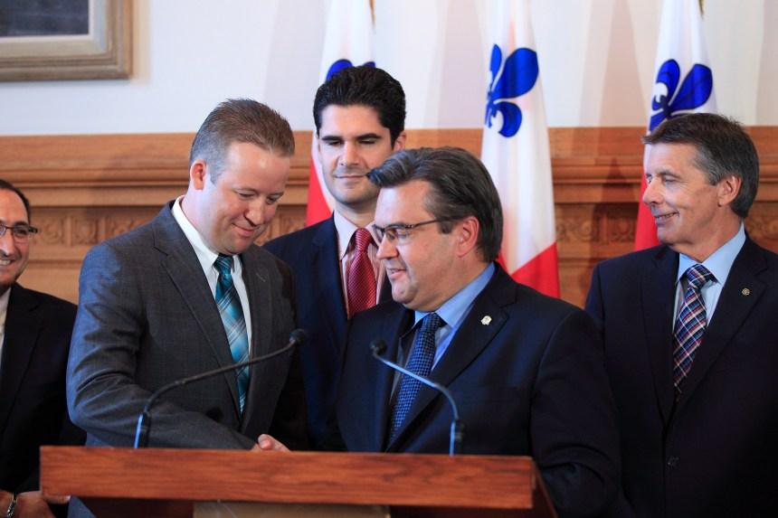 Marc-André Gadoury se joint au maire Coderre