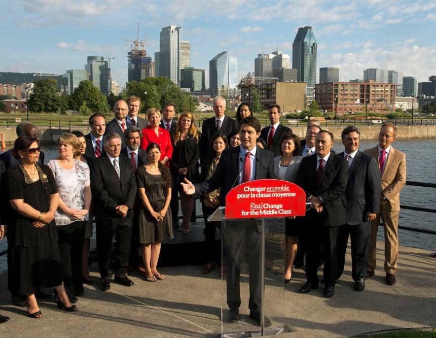 Trudeau lance la campagne québécoise de son parti et attaque Thomas Mulcair