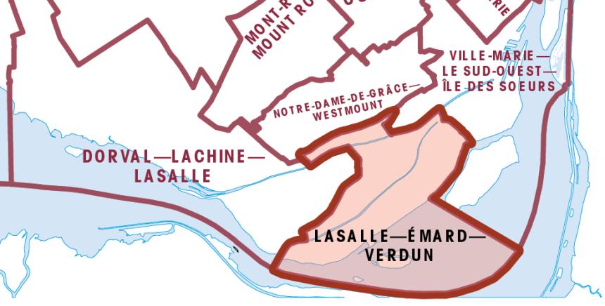 La nouvelle circonscription LaSalle–Émard–Verdun