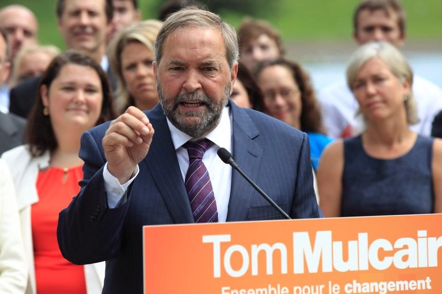 Mulcair affirme que le NPD est «le pire cauchemar» des conservateurs