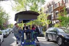 Un Vélo Festif pour faire la tournée des bars sur le Plateau